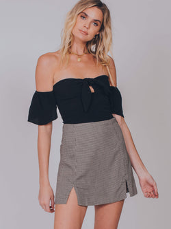 Iris Crop Top Flynn Skye Black FH18C2T535