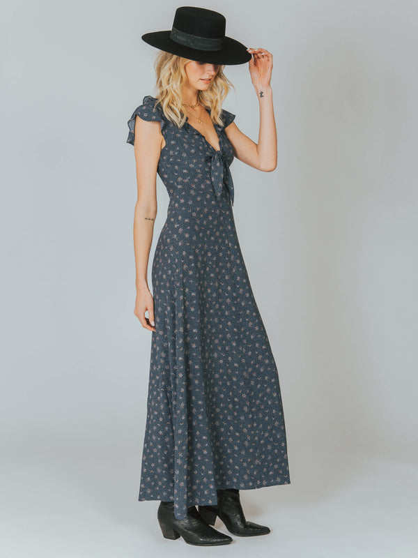 Jasmine Petal Cutaway Maxi Dress Auguste The Label