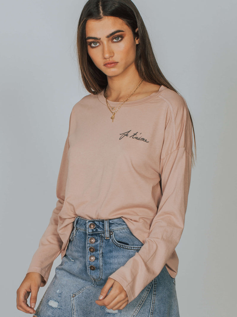 Je T'aime Drew Oversized Long Sleeve Mate The Label