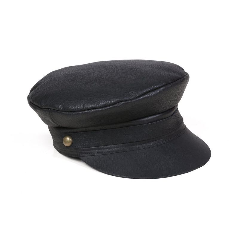 Lola Cap - Black Leather