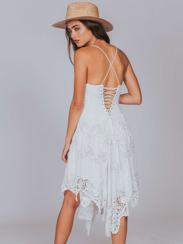 Love to Love You Cutwork Dress Free People White