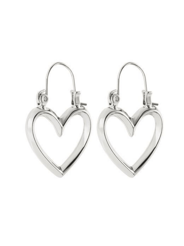 Mini Heartbreaker Hoops Silver Luv AJ