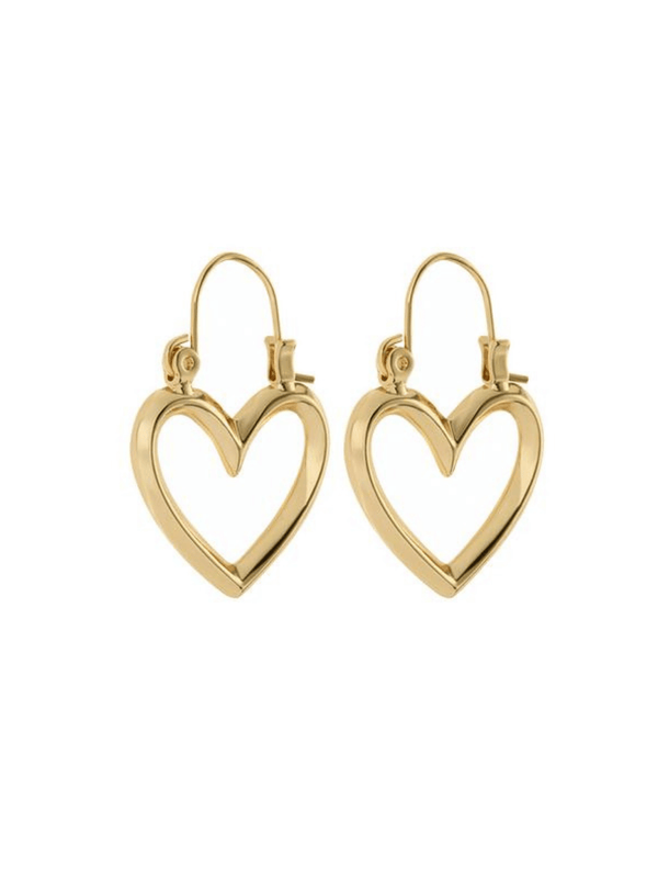 Mini Heartbreaker Hoops - Gold