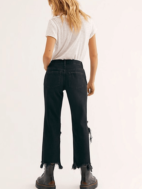 Maggie Mid Rise Straight Jean Free People