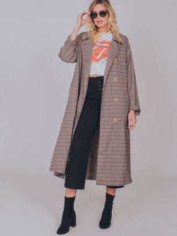 Melody Plaid Trench Coat Free People