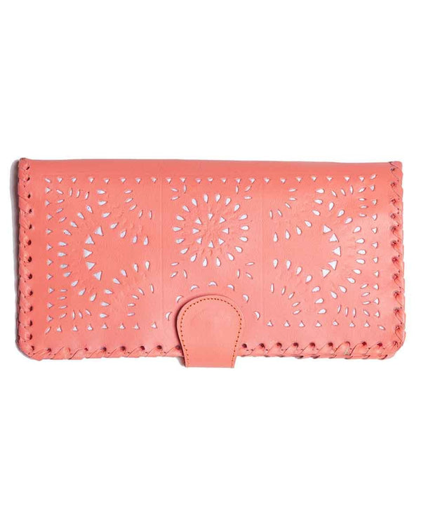 Mexicana Painted Wallet - Grapefruit