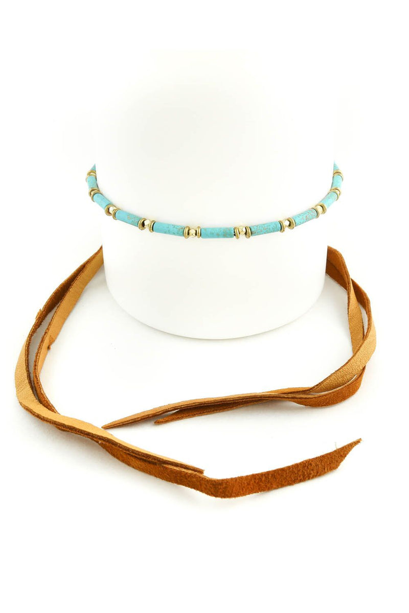 The Dallas Choker Teal