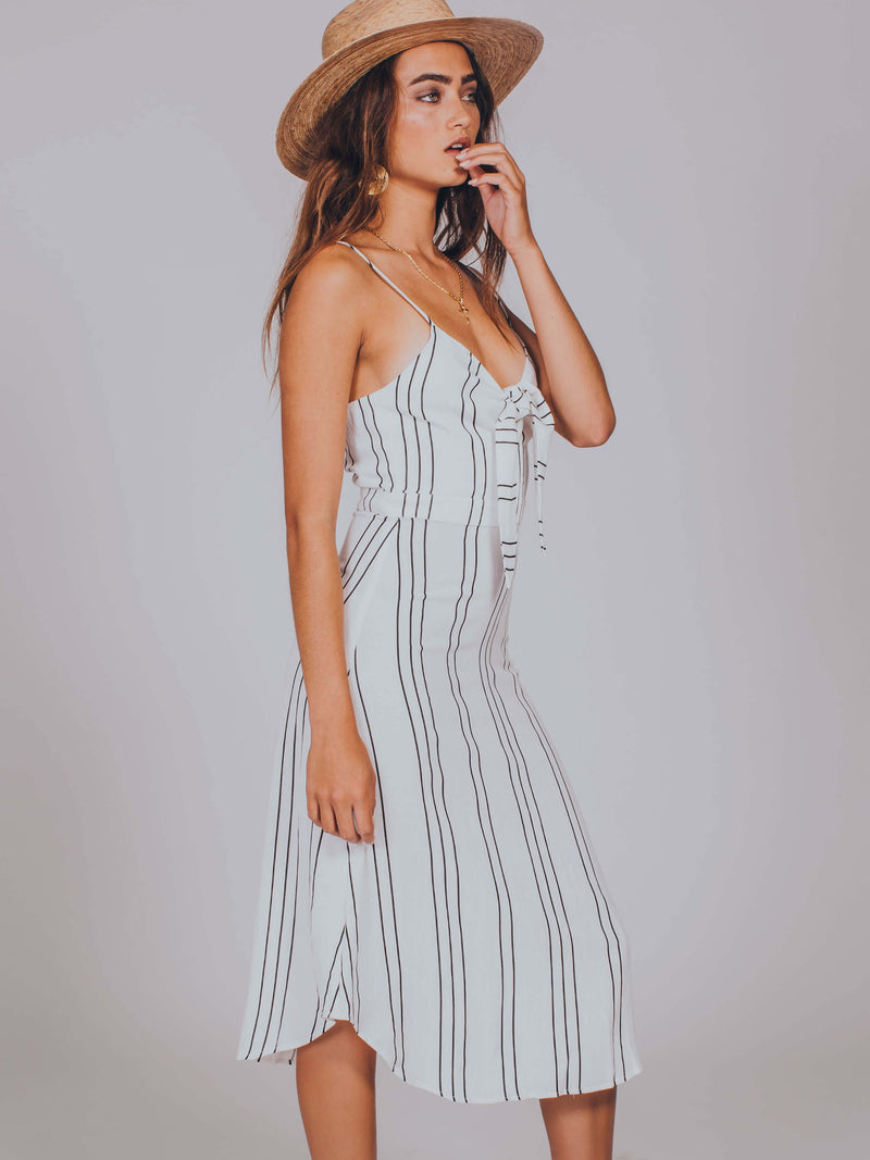 Naples Sancia White Stripe Women's Dress