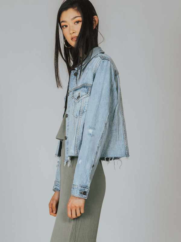 Naya Cropped Boyfriend Denim Jacket Pistola