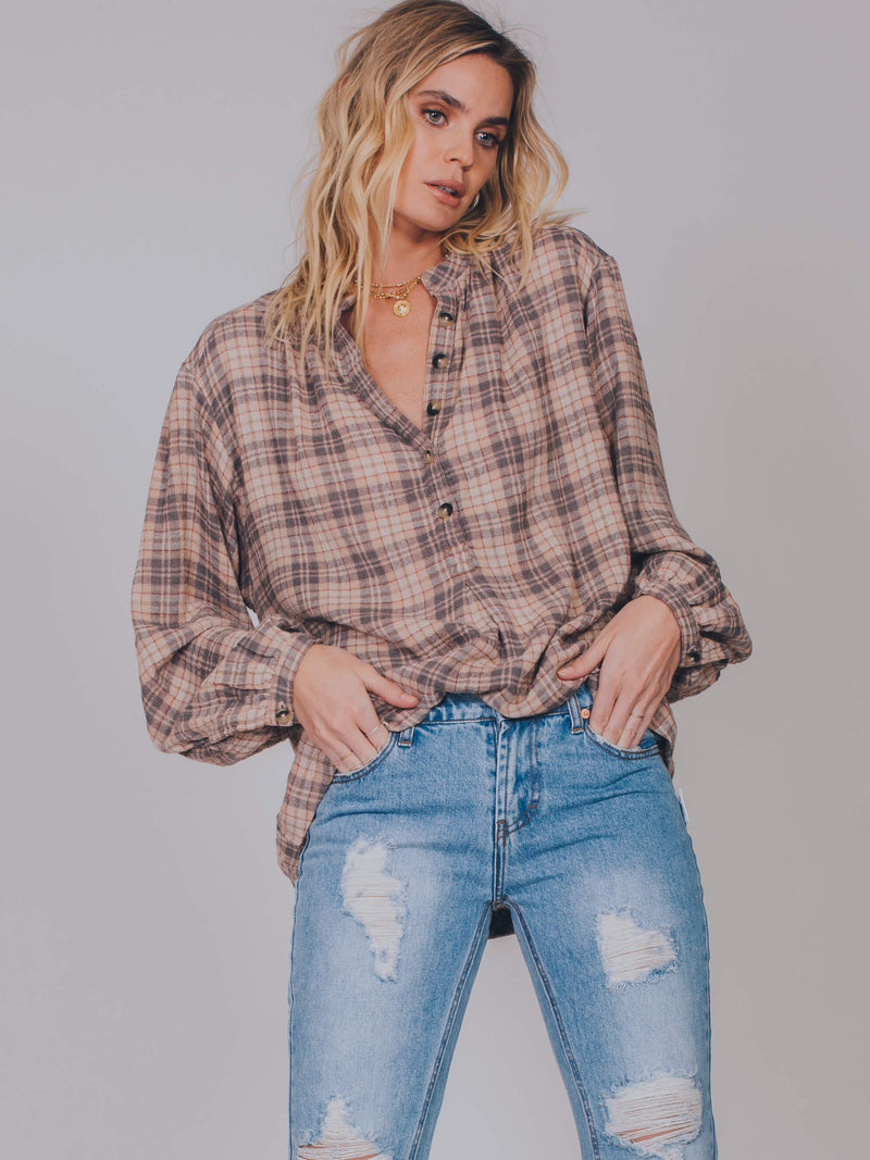 Northern Bound Buttondown Top Free People