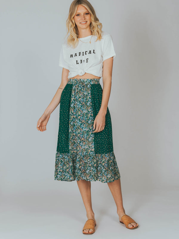 Palm Springs Belle Midi Skirt