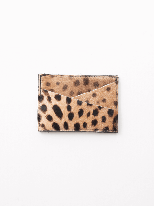 Saudara Leopard Card Holder
