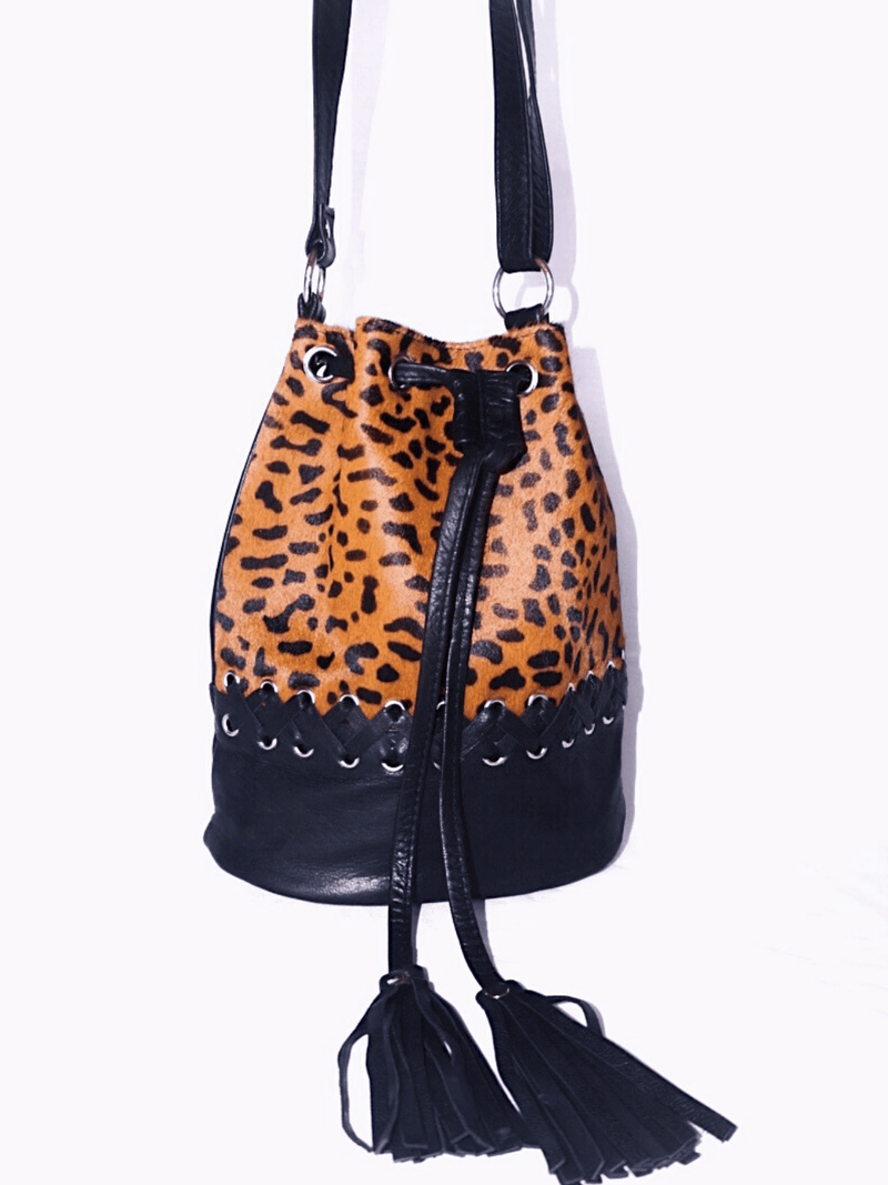 Carly Cowhide Bucket Bag Saudara