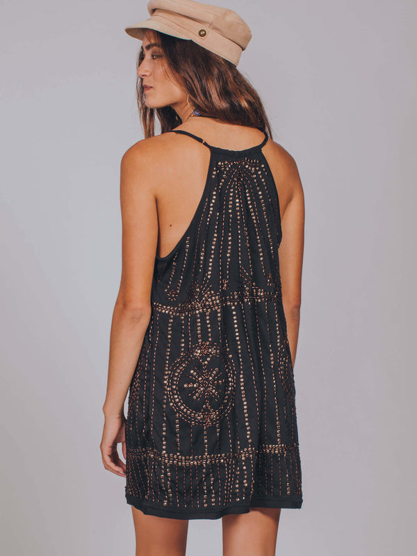 Sedona Embellished Slip Free People Black