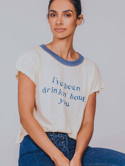 Drinkin' Bout You - Shay Crop Tee Mate The Label