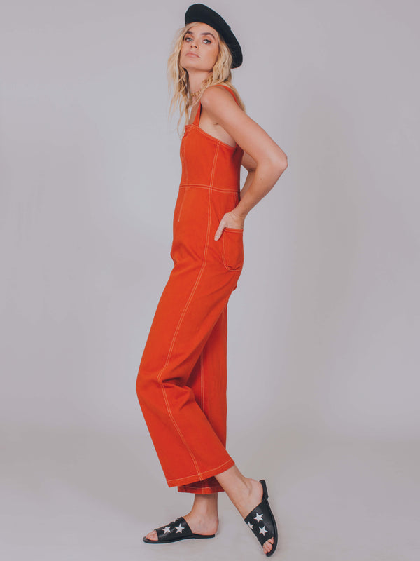 Simon Jumpsuit Vintage Red Capulet