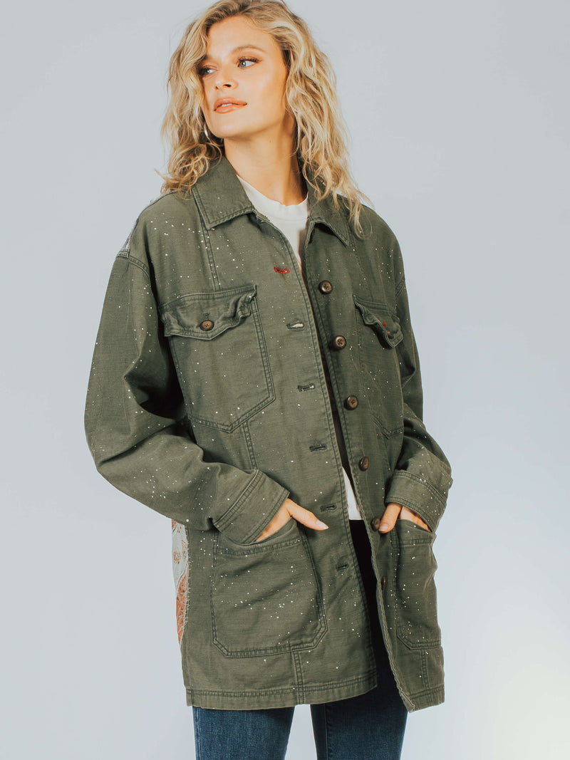 Spruce Military Jacket Free People