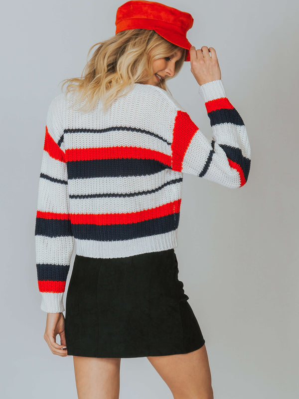 Stripe Knit Sweater MINKPINK