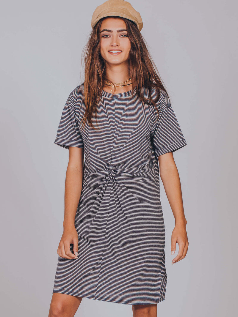 Stripe Twist Front Tee MINKPINK Women's Dress