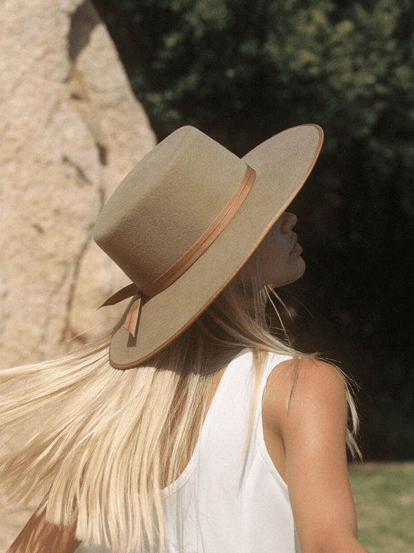 Teak Rancher Boater Hat Lack of Color