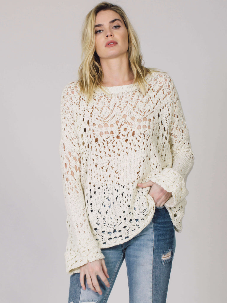 Traveling Lace Sweater