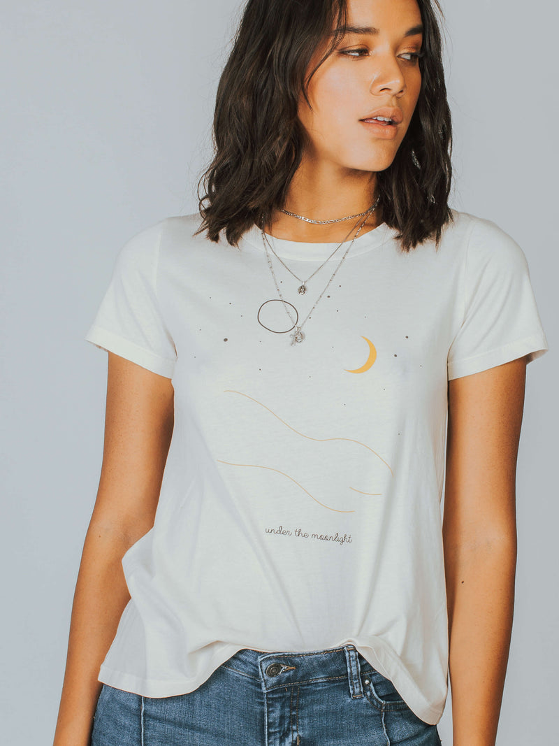 Under The Moonlight Classic Crew Tee Mate The Label