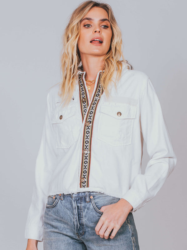 Weekend Wanderer Military Jacket Free People