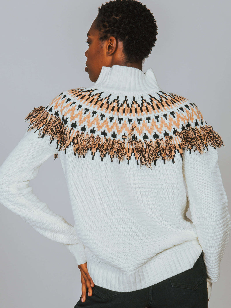Wild and Free Fringe Knit Sweater MINKPINK