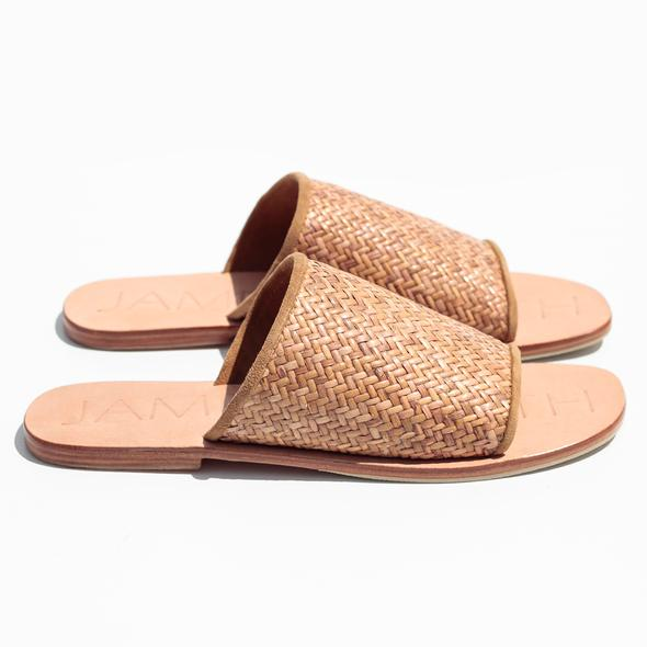 """Off Duty"" Woven Slides"