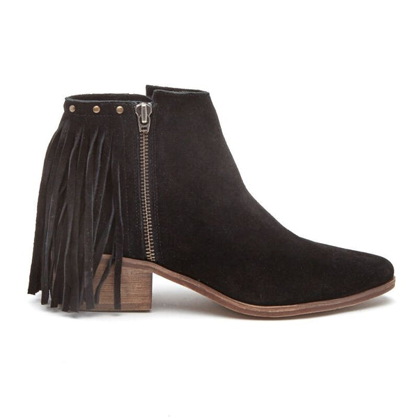 Coconuts by Matisse Billy Studded Fringe Bootie Black
