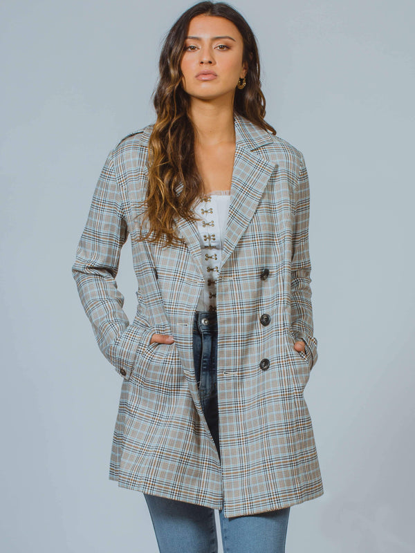 Check Trench Coat MINKPINK
