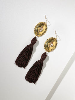 The Gold Concho Tassel Earring