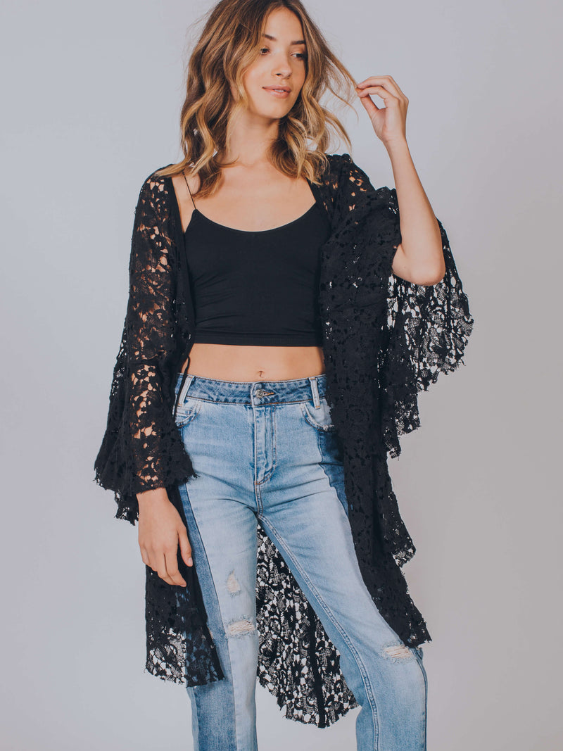 Move Over Lace Robe Free People