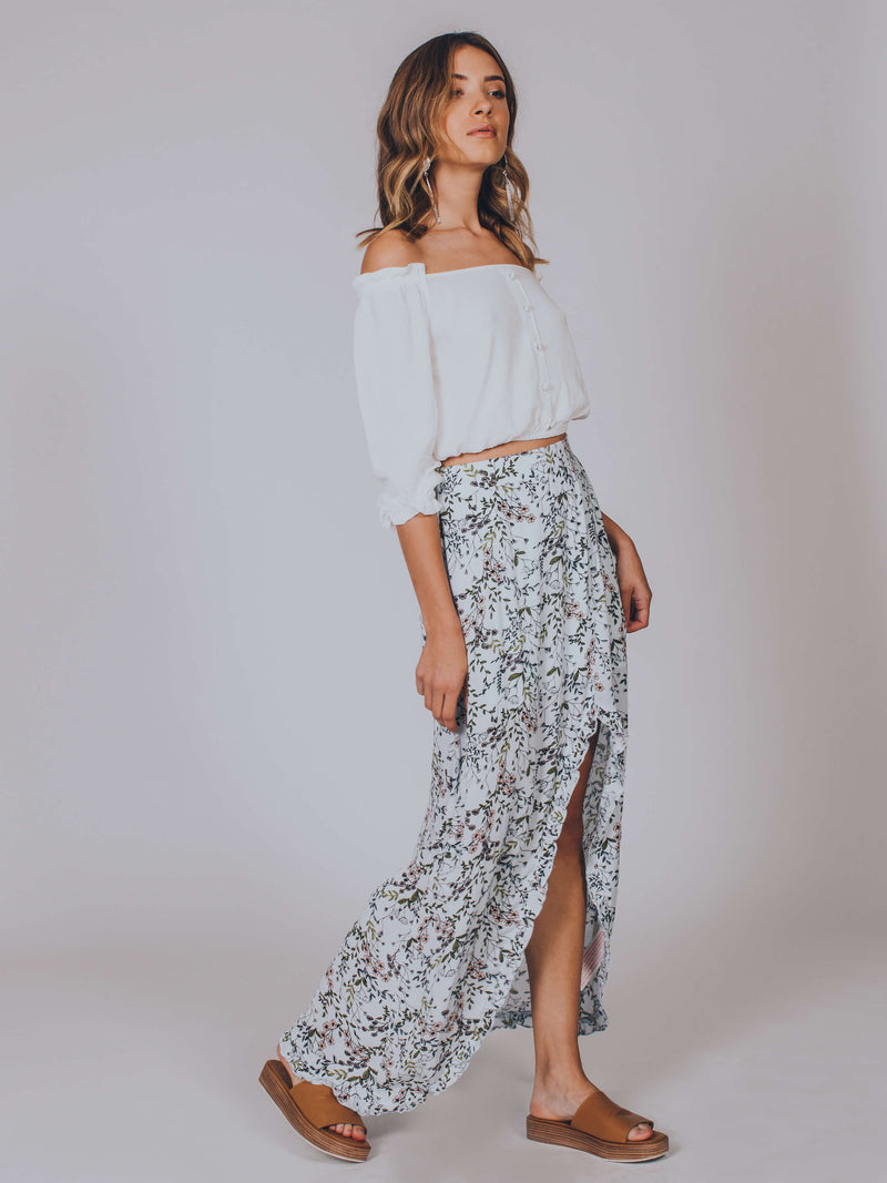 Woodland Days Split Midi Skirt