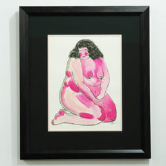 Pink and Soft - Original Watercolor | Frances Cannon - Sustain - Gallery and Workspace | Art, Prints, Zines, Workshops | Chicago, IL