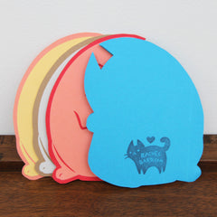 Kitten Die-Cut - Back | Rachel Bard