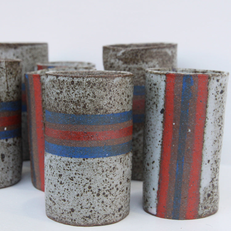 Tatejima/YokoJima Cups | Chie Fujii - CHIECO Ceramics - Sustain - Gallery and Workspace | Art, Prints, Zines, Workshops | Chicago, IL