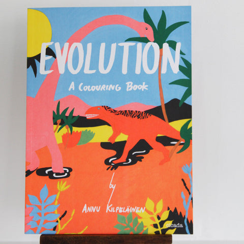 Evolution | A Colouring Book | Microcosm Publishing at Sustain - Gallery and Shop - Chicago, IL