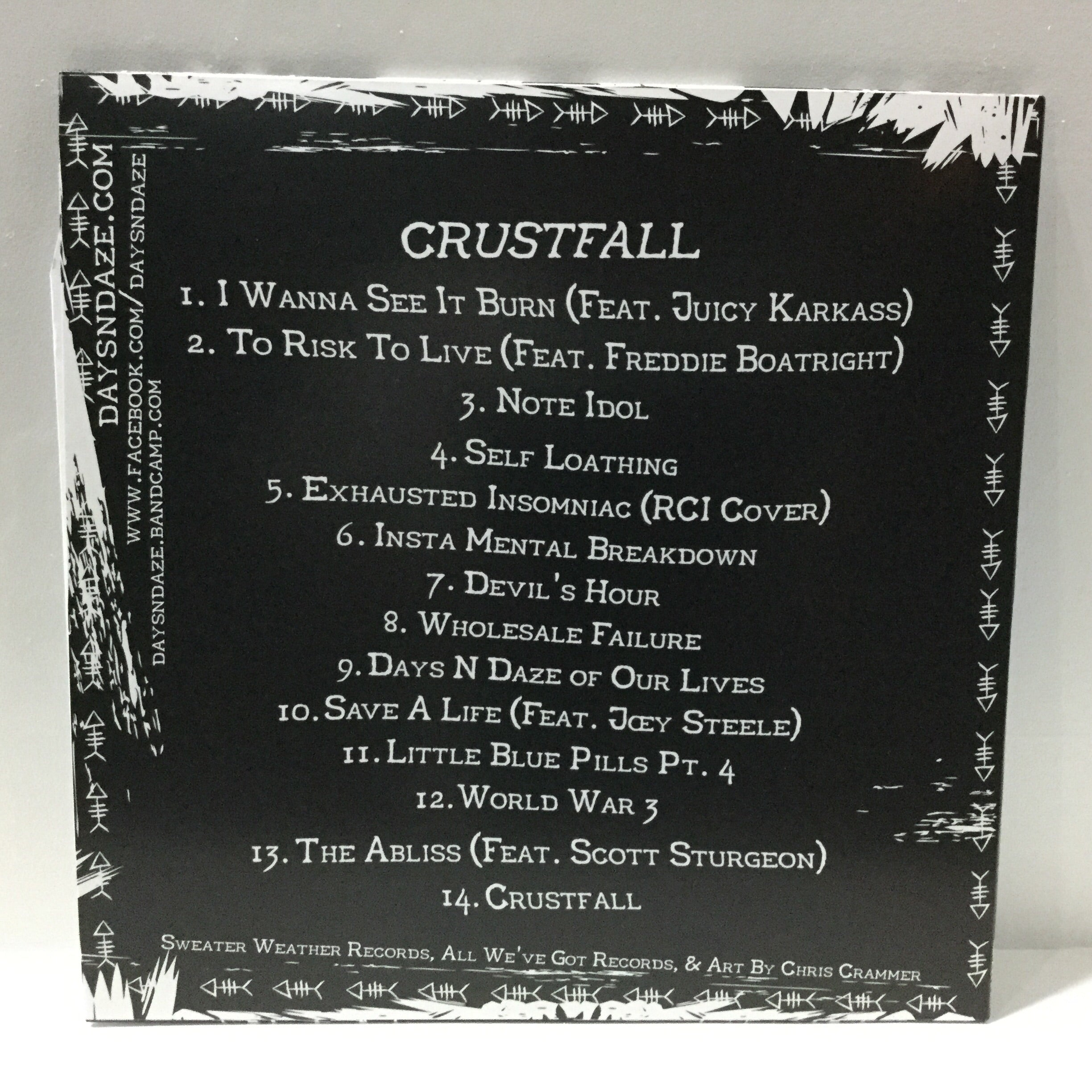 Days N Daze - Crustfall | Niatsus | Cassette Label and Copier at Sustain - Gallery and Shop - Chicago, IL