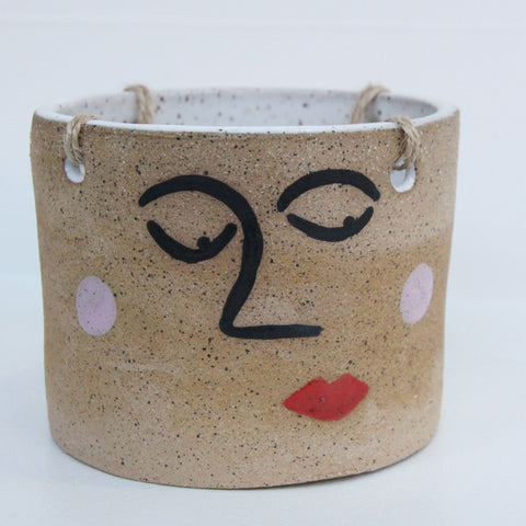 Hanging Face Planter | Jen Dwyer | Jen Dwyer | Ceramics at Sustain - Gallery and Shop - Chicago, IL