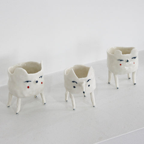 Porcelain Standing Creature | Matilde Digmann | Matilde Digmann | Denmark at Sustain - Gallery and Shop - Chicago, IL