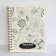 Flower Power Spiral Journal - Sustain - Gallery and Workspace | Art, Prints, Zines, Workshops | Chicago, IL