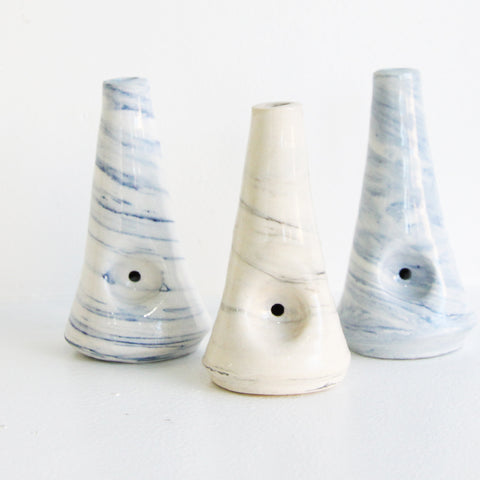 Marbled Pipe | Mia Rose Schachter - Paperclip Pottery | Mia Rose Schachter - Paperclip Pottery | Brooklyn, NY at Sustain - Gallery and Shop - Chicago, IL