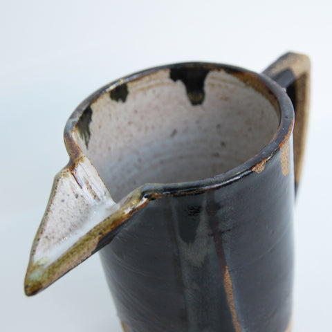 Brown Drips Pitcher | Mia Rose Schachter - Paperclip Pottery | Mia Rose Schachter - Paperclip Pottery | Brooklyn, NY at Sustain - Gallery and Shop - Chicago, IL