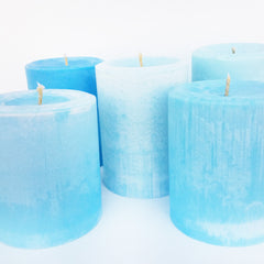 Soft Pastel Pillar Candles | Sustain - Gallery and Shop | Artwork, Zines, Ceramics & Plants | Chicago, IL  at Sustain - Gallery and Shop - Chicago, IL