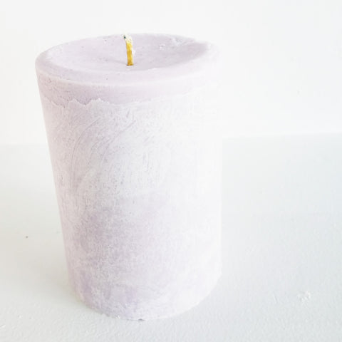 Shades of Purple Pillar Candle | Frontier Supply Shop | Chicago, IL at Sustain - Gallery and Shop - Chicago, IL