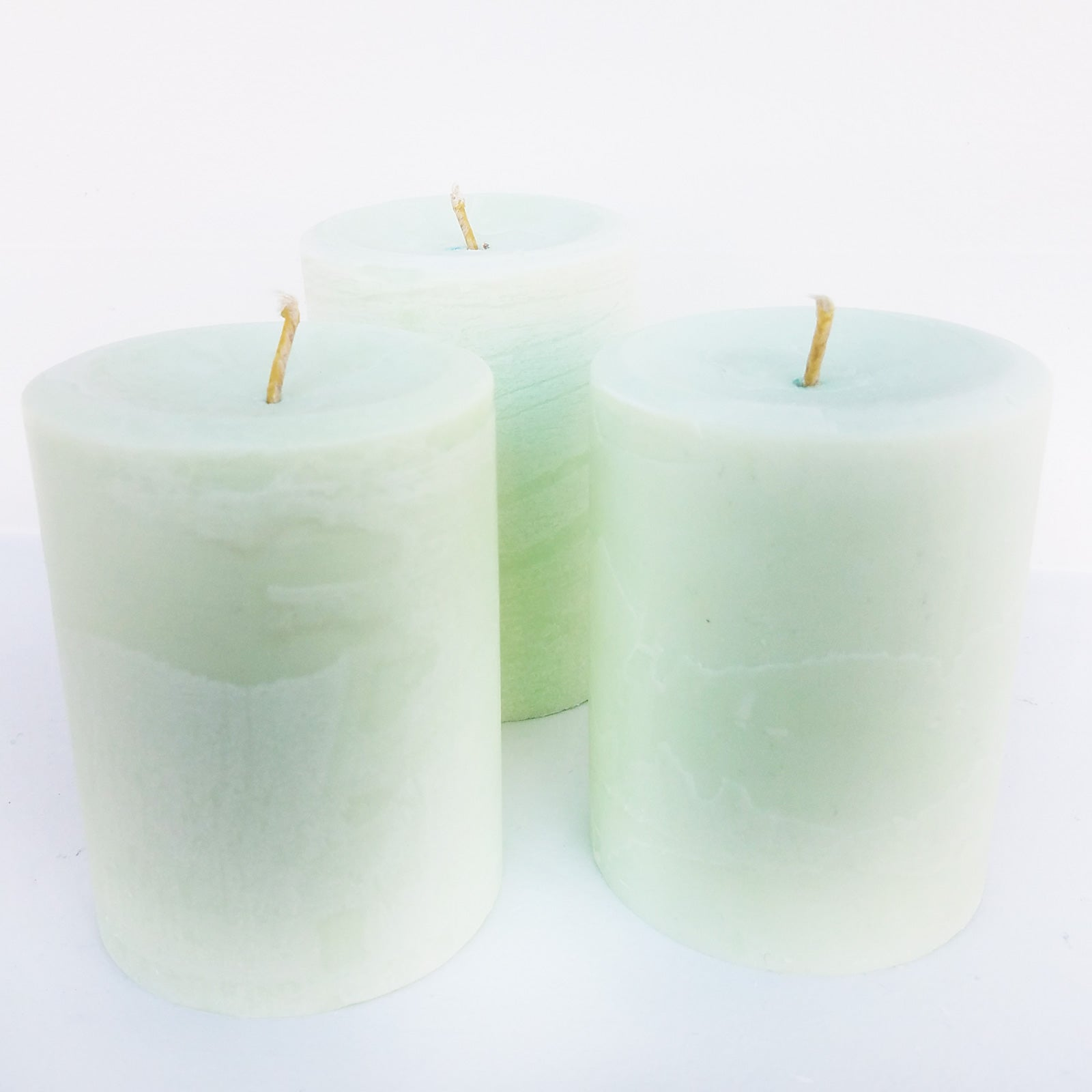 Shades of Seafoam Gree Pillar Candle | Frontier Supply Shop | Chicago, IL at Sustain - Gallery and Shop - Chicago, IL
