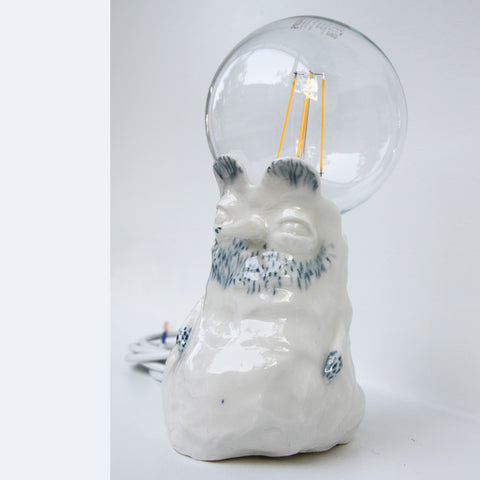 Ceramic Porcelain Long Nose Lamp - Matilde Digmann sold by Sustain Gallery