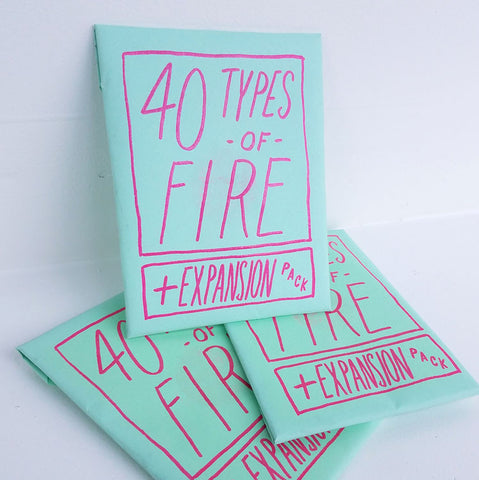 40 Types of Fire + Expansion |  Sustain Gallery - Artwork, Zines, Ceramics & Plants