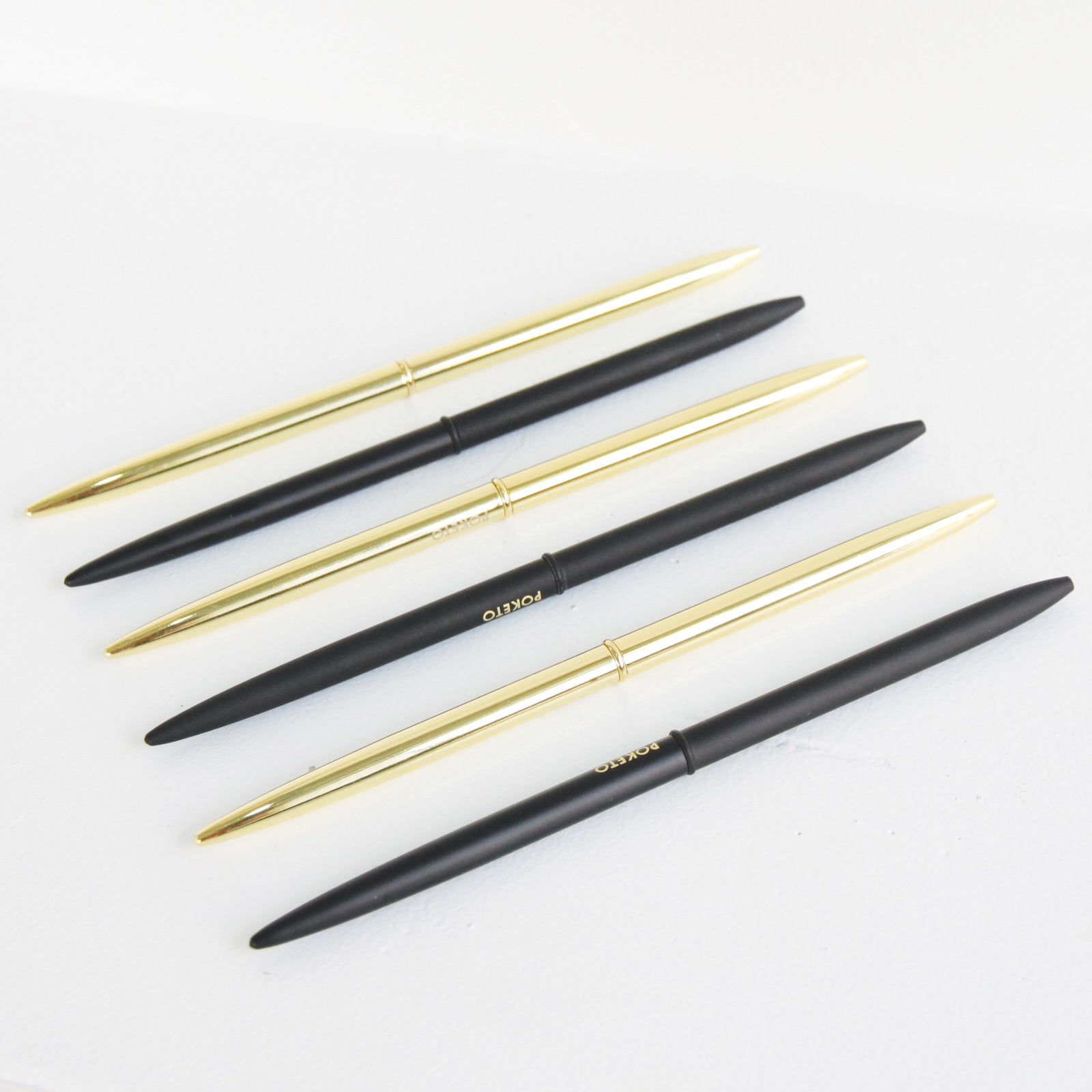 Slim Pen - Gold and Matte Black | Poketo | Los Angeles, CA at Sustain - Gallery and Shop - Chicago, IL